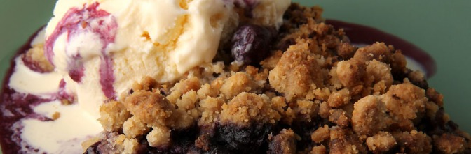 Ridiculously Easy Blueberry Crisp