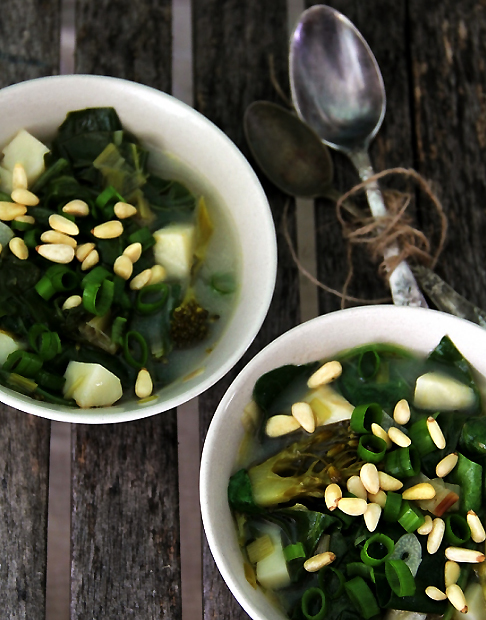 Tel Aviv: Green Leaf Soup