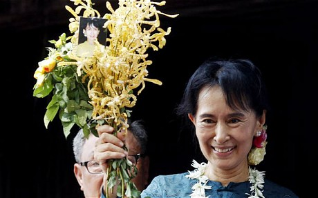 Once sitting in jail, Aung San Suu Kyi hopes for 'new era' for Burma