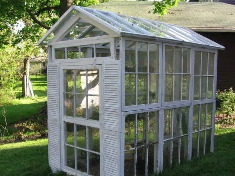 Old windows thrown away? Don't. Here is a wonderful way to repurpose them.