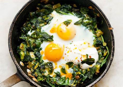 skillet baked eggs
